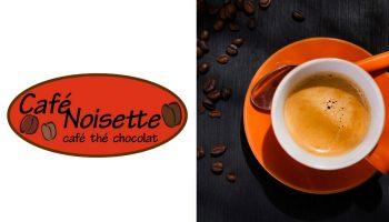 Québec Exquis Découvrir Café Noisette avec logo