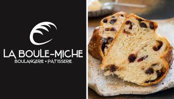 Québec Exquis Découvrir La Boule-Miche avec logo